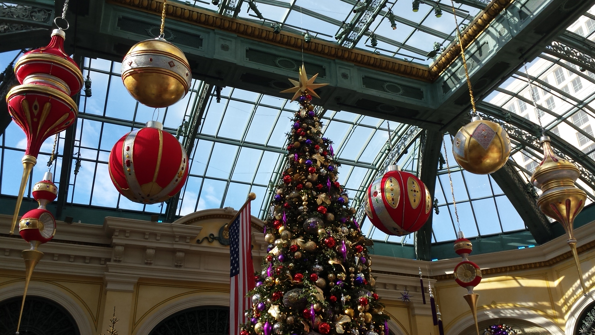 The Christmas display at the Bellagio Hotel in Las Vegas.