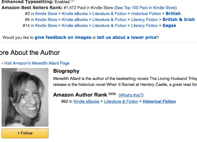 I even had my first Amazon Author Rank after the EReader News Today promotion.
